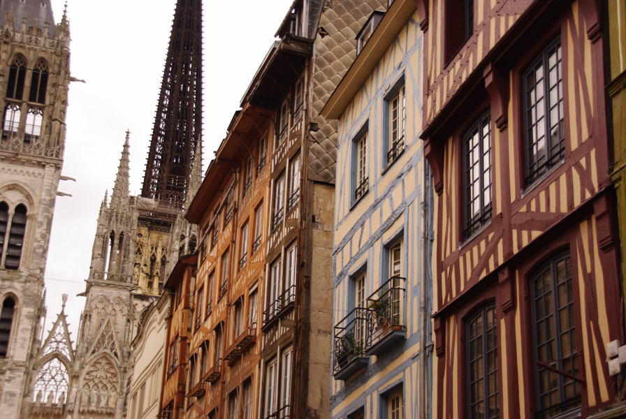 centre ville de rouen, aux abords de la cathédrale
