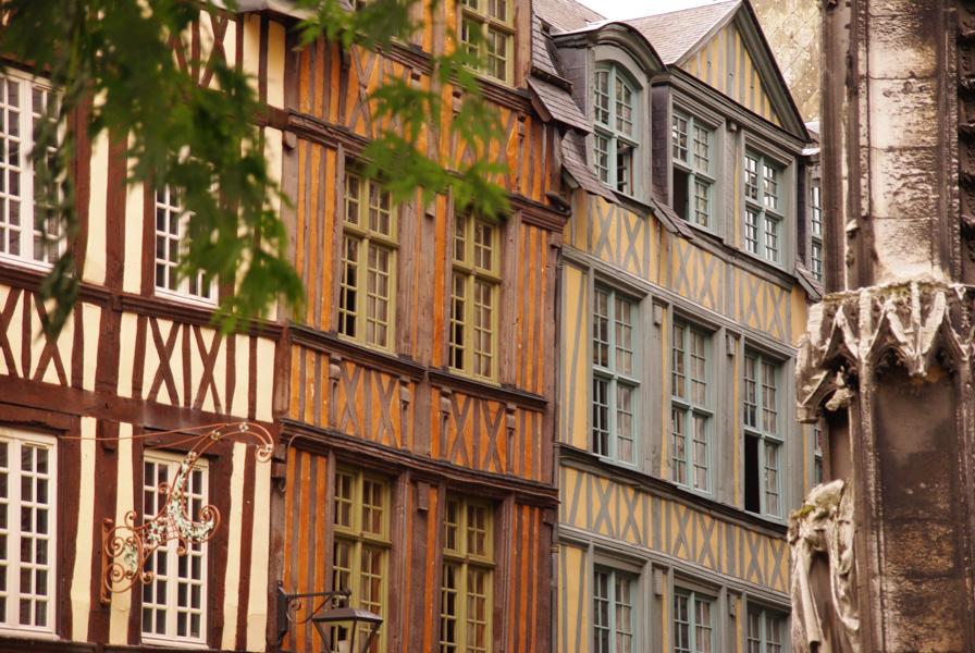 maisons à colombages dans le centre de Rouen