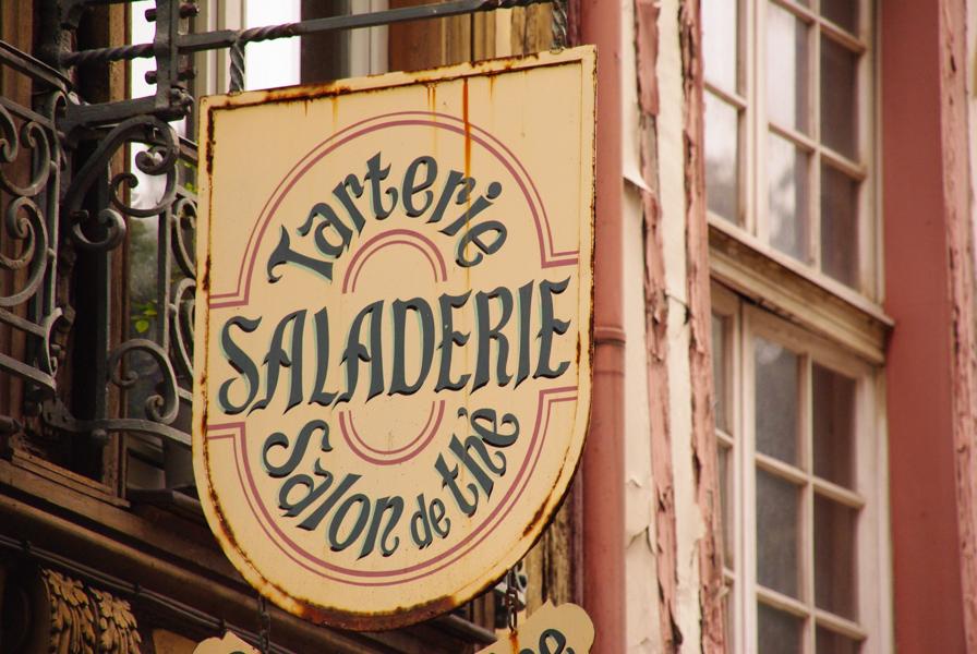 enseigne salon de thé - Rouen