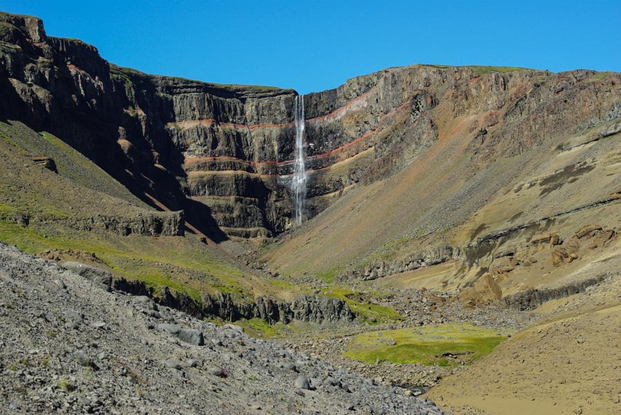 Hallormsstaður : randonnée à cascade d'Hengifoss et forêt d'Eglisstaðir