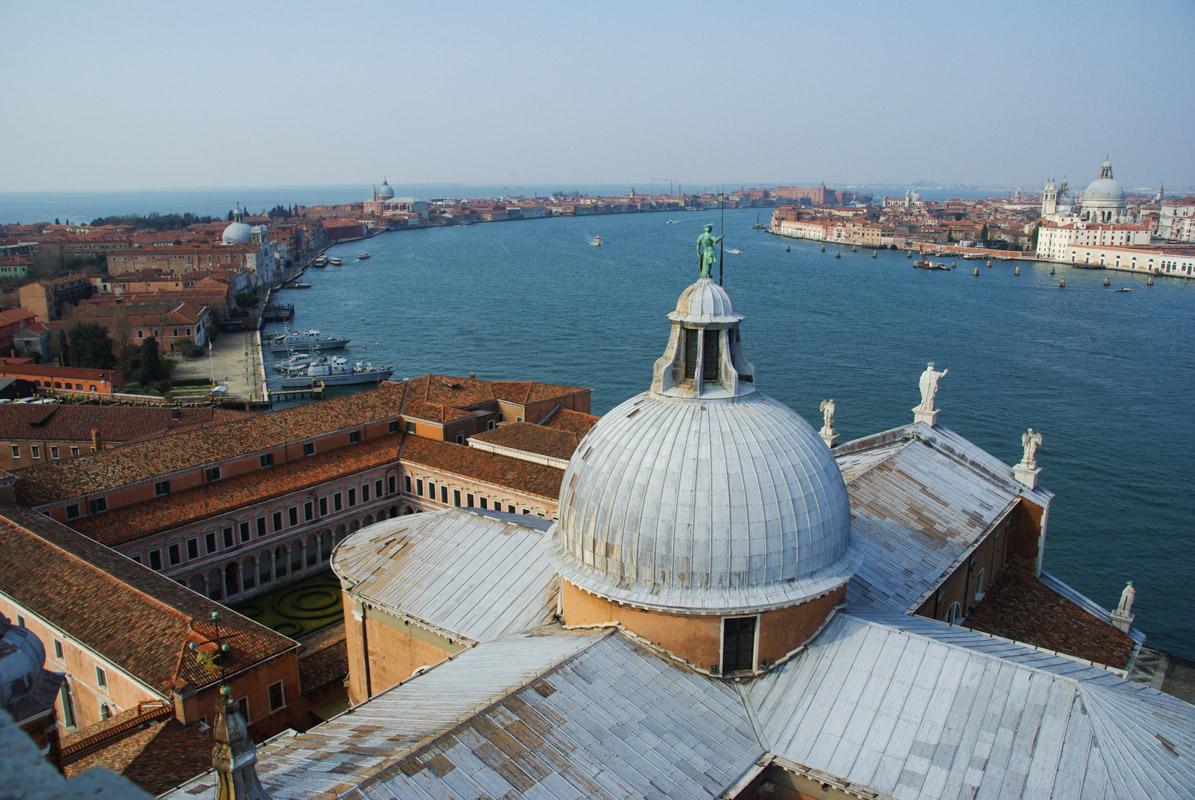 Panorama depuis le campanile de l'église San Giorgio de Venise