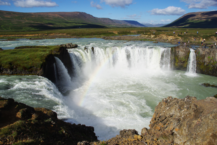 cascade de godafoss - entre le lac Myvatn et Akureyri