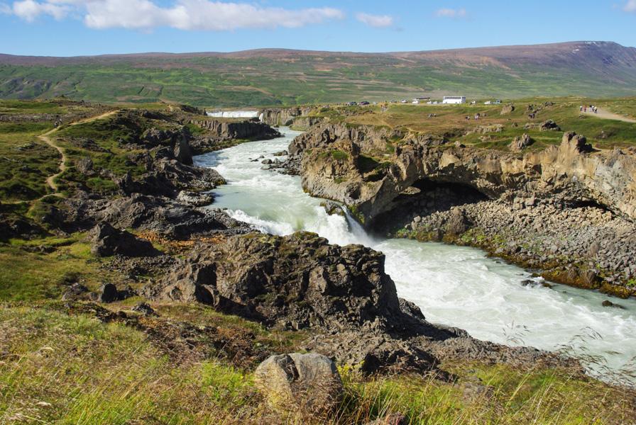 Cascade de Godafoss - environs d'Ajureyri - Islande