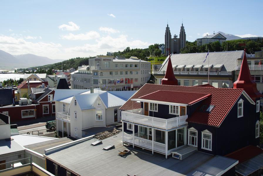Terrasse de restaurant à Akureyri - Islande