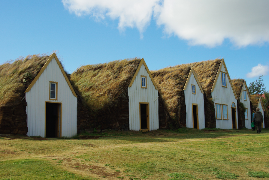facades des maisons en tourbe - Ecomusée de Glaumbear - Varmahlíð
