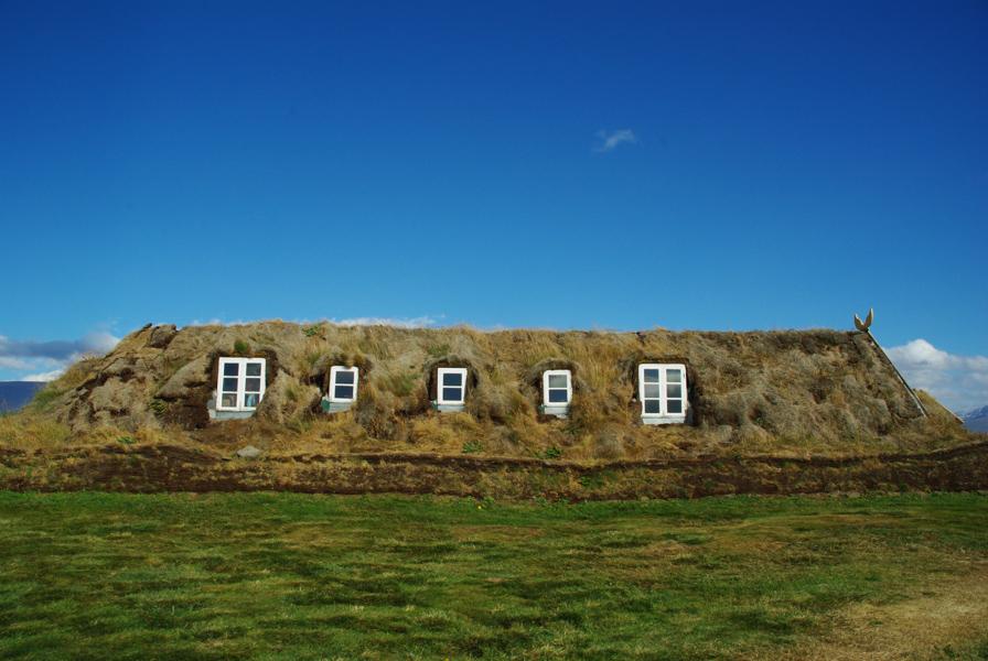 Varmahlíð : les petites maisons sous la prairie