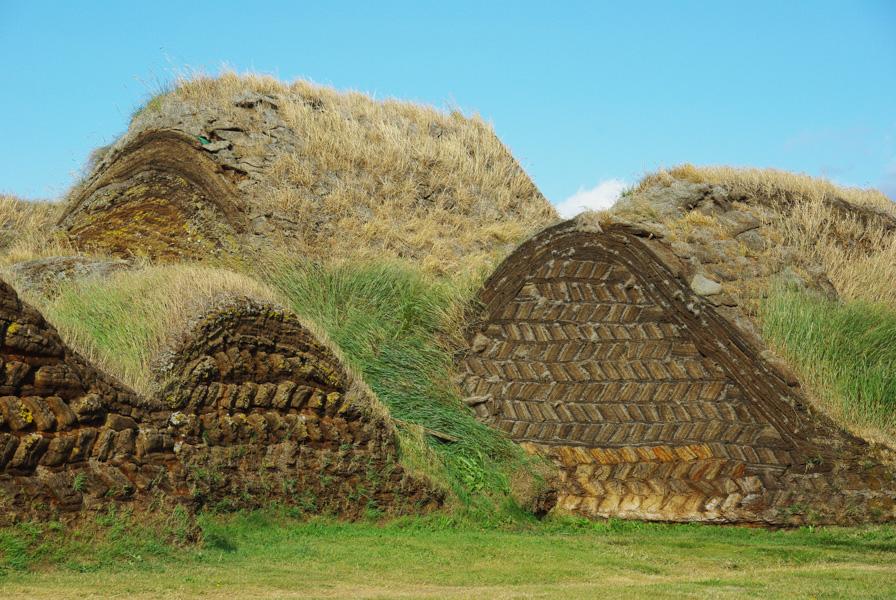 toits des maisons en tourbe - Ecomusée de Glaumbear - Varmahlíð