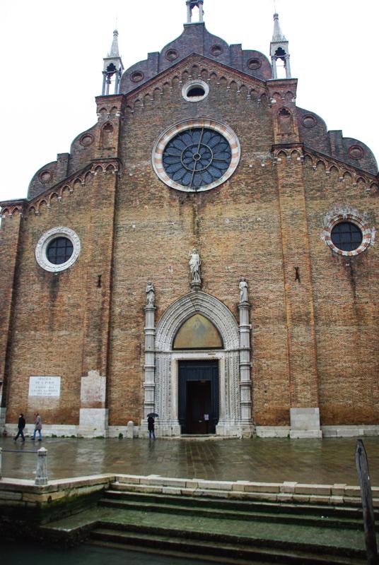 face de l'église I Frari de Venise