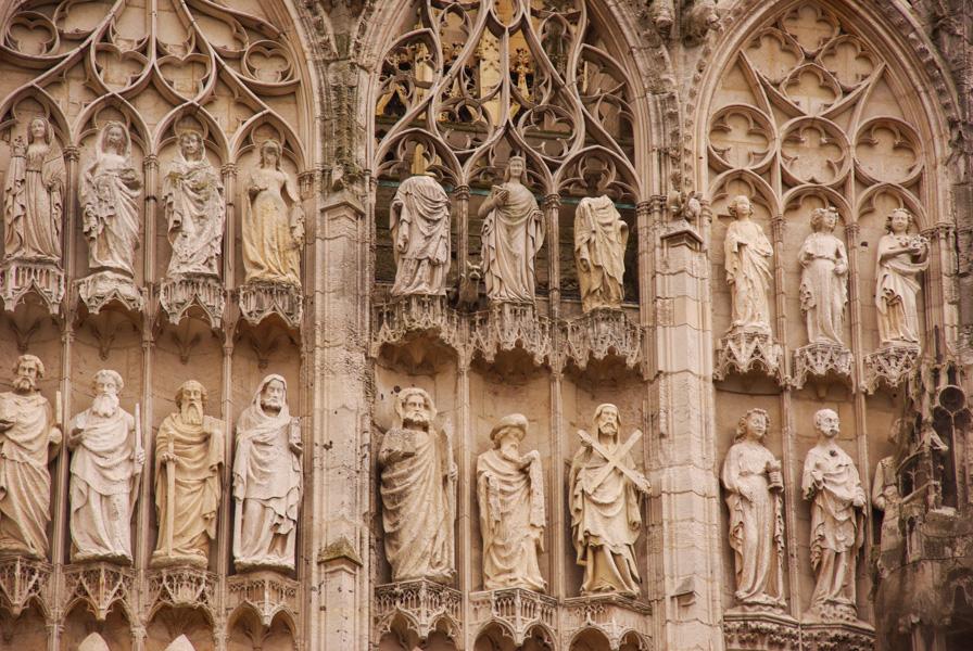 detail de la facade de la cathédrale Notre Dame de Rouen