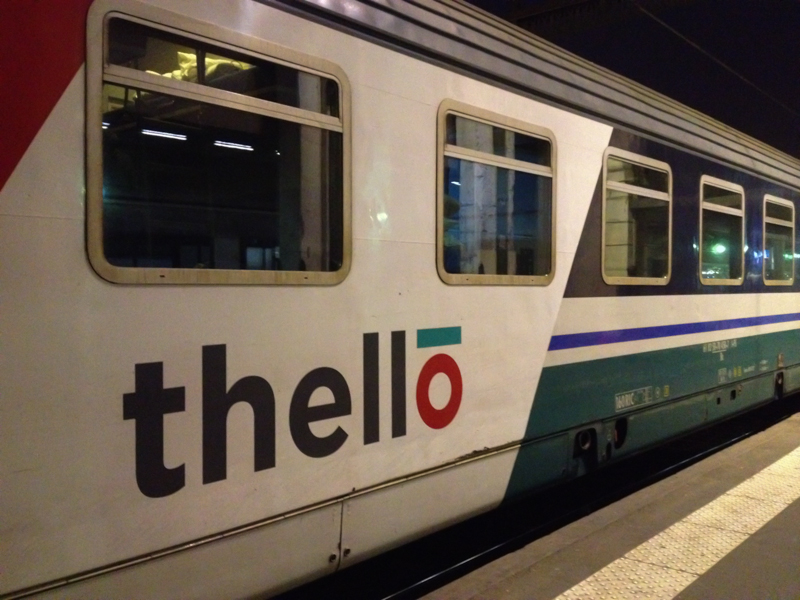 Partir en Italie en train couchette Thello