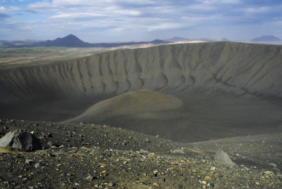 Intérieur du Cratere Hverfall en Islande