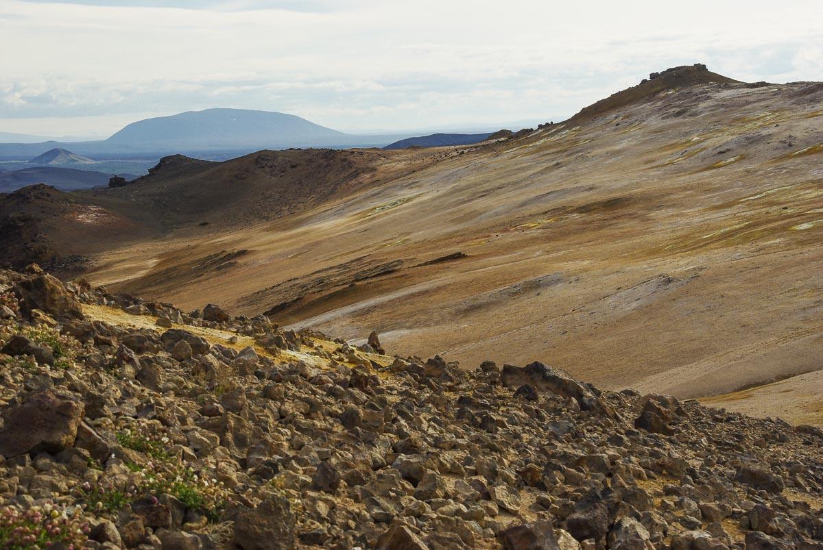 solfatares de Namafjall près du lac de Myvatn en Islande