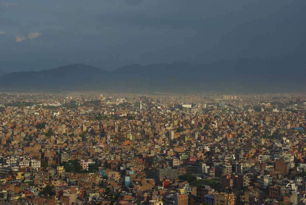 panorama sur Katmandou