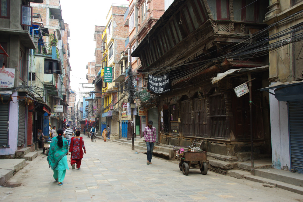 dans les rues de Katmandou