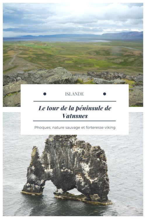 Itinéraire d'une journée pour découvrir les principaux points d'intérêt de la péninsule de Vatnsnes en Islande