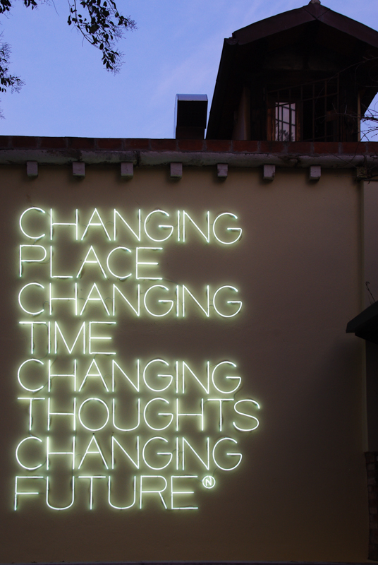 Changing Place, Changing Time, Changing Thoughts, Changing Future, Maurizio Nannucci, 2003