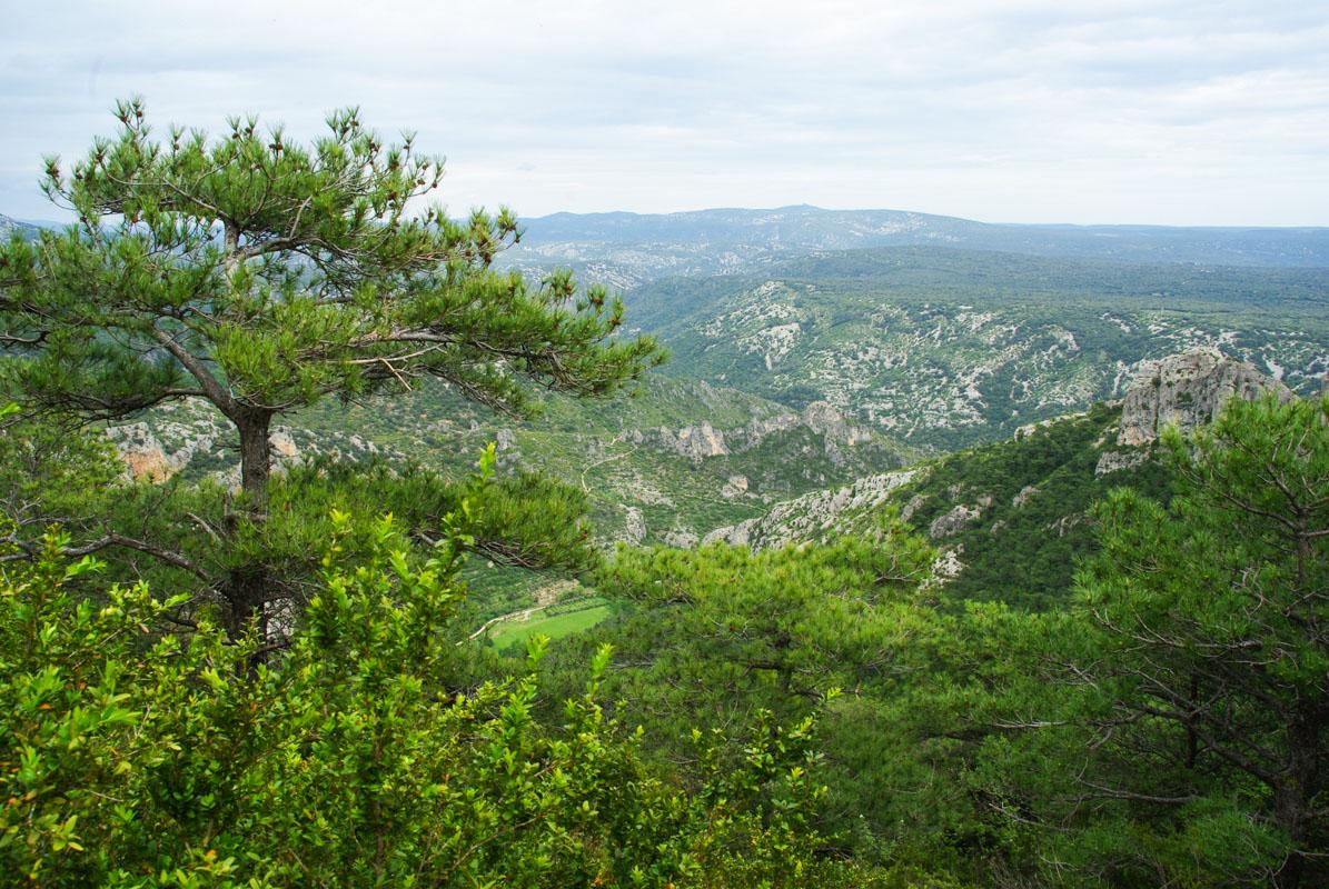 panorama autour de Saint Guilhem le Désert