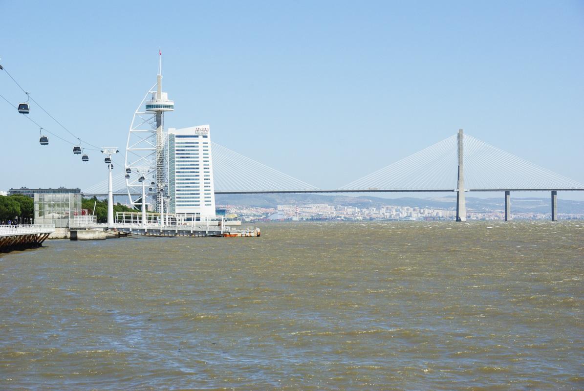 vue sur le pont Vasco de Gama depuis le parc des nations