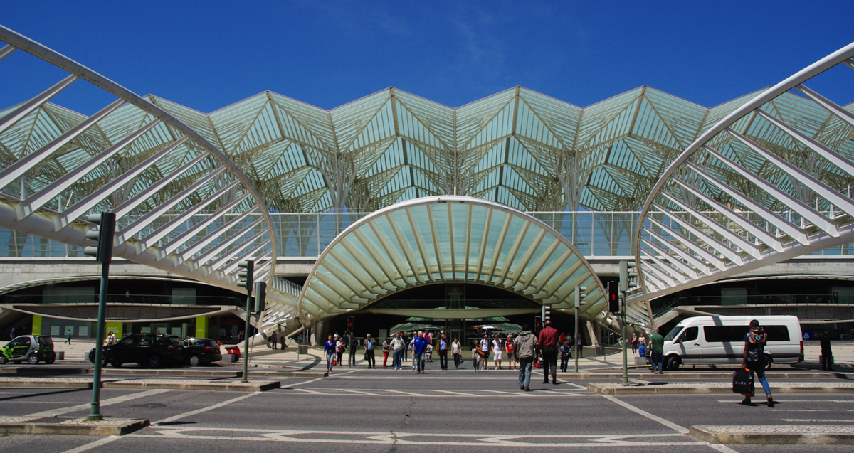 la gare Oriente - Lisbonne