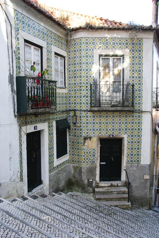 maison recouverte de faience dans l'Alfama - Lisbonne