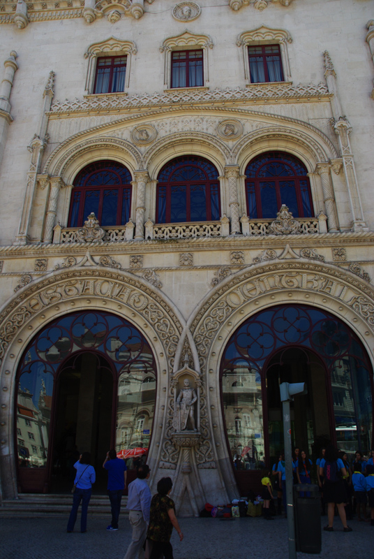 facade de la gare de Rossio