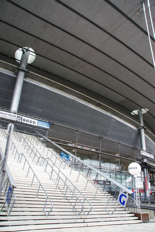 escalier monumental du stade de France