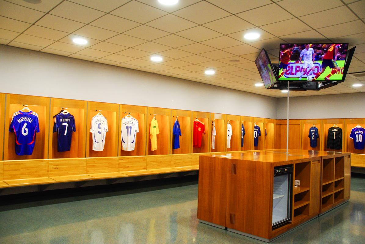 intérieur des vestiaires du Stade de France