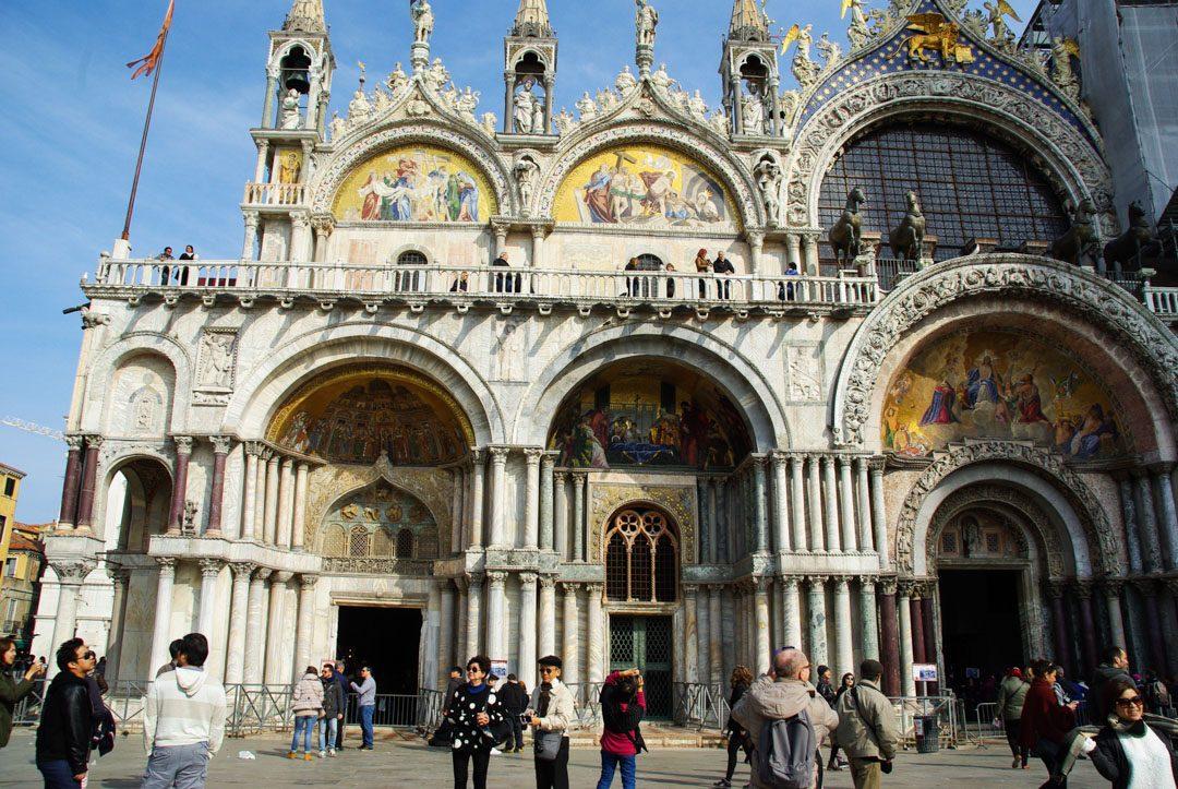 entrée de la basilique Saint Marc à Venise
