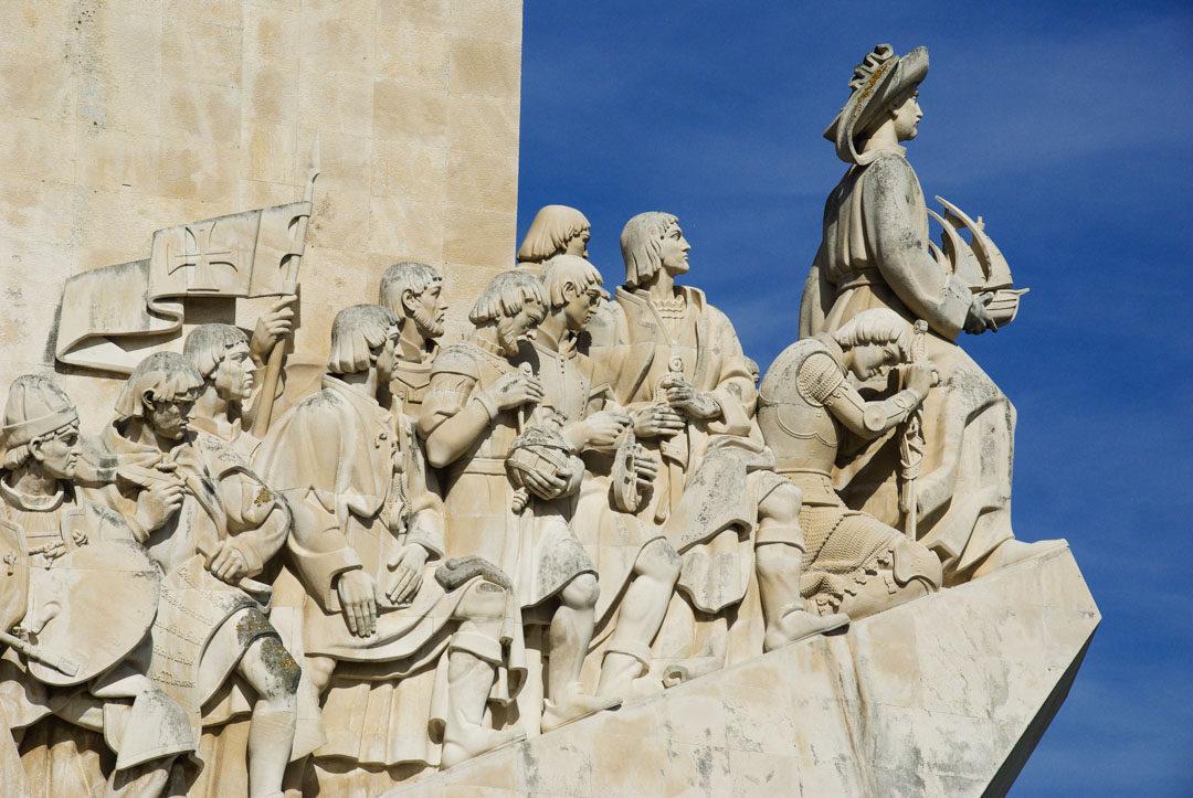 Détail du Monument des découvertes - Belem - Portugal