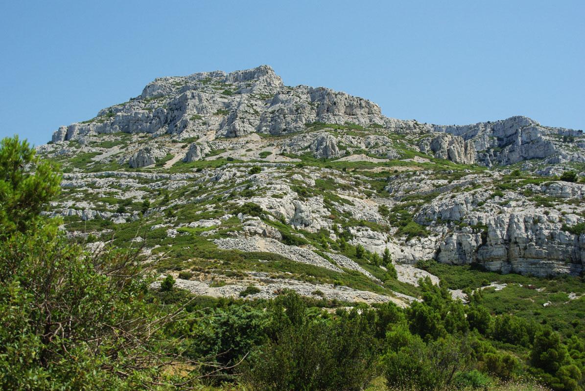 dans le massif des calanques de Marseille