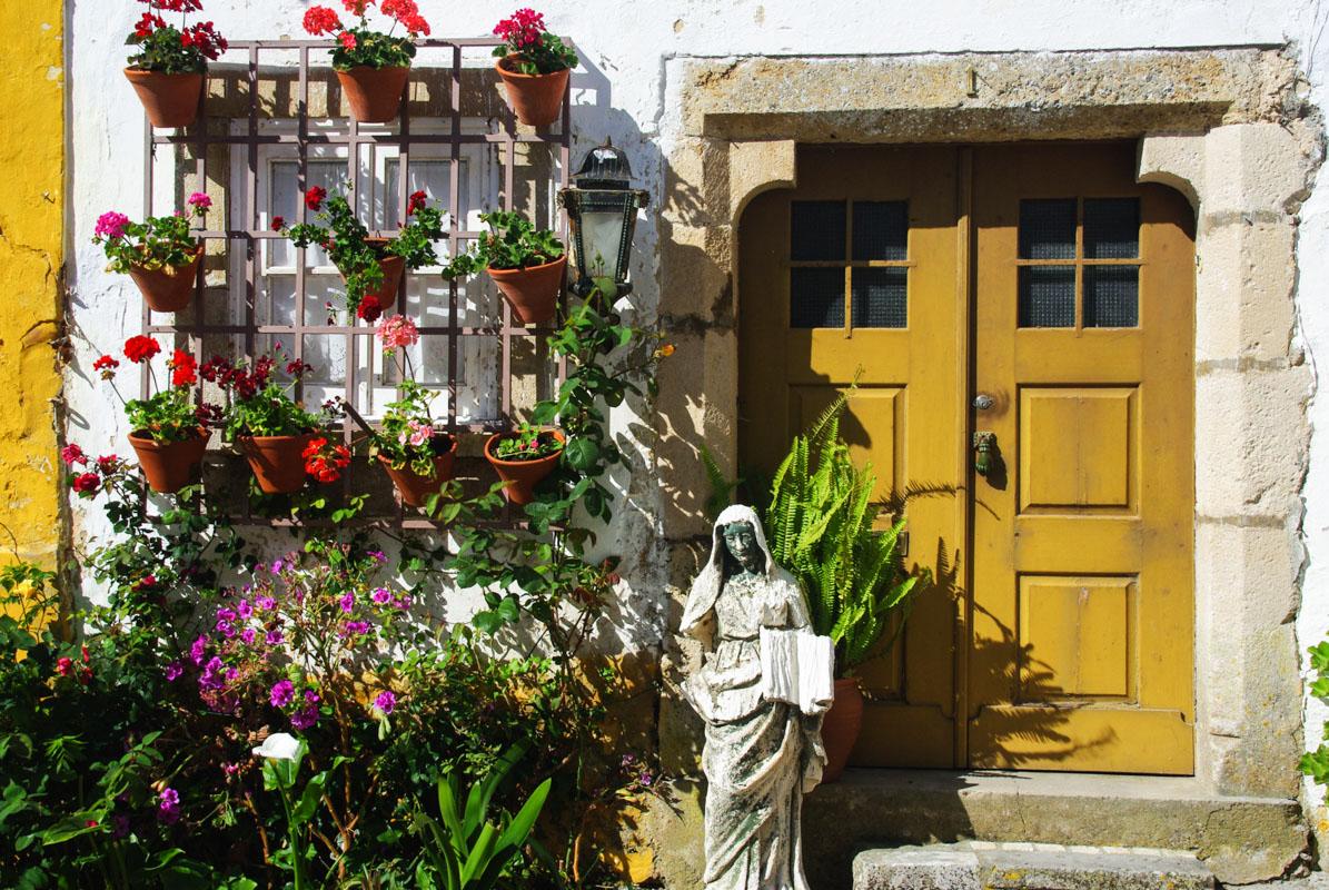 Maison fleurie - Óbidos