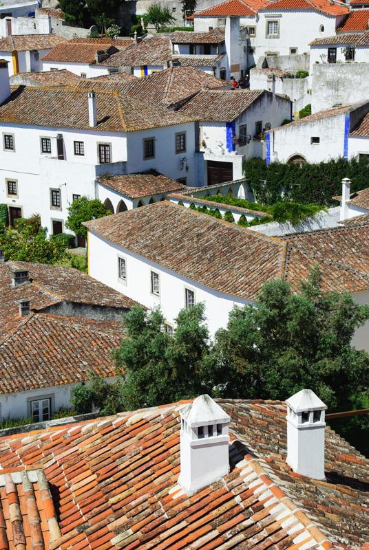 vue sur les toits d'obidos