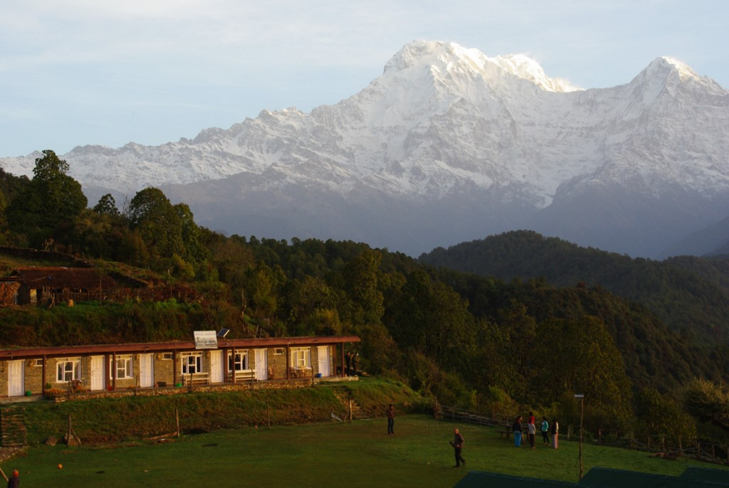 Lever du soleil sur Annapurna South - Australian Camp - Mardi Himal