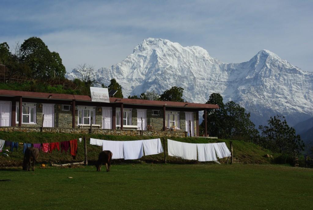 Vue sur Annapurna South - Australian Camp - Mardi Himal