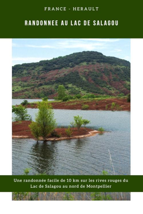 Randonnée de 10km sur les rives du lac de Salagou dans l'Herault