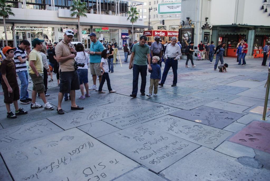 parvis devant le Grauman's Chinese Theatre - Los Angeles