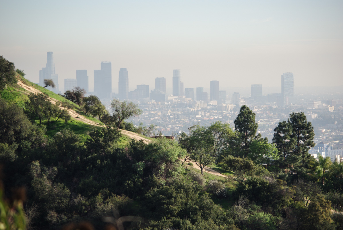 Panorama sur Downtown Los Angeles depuis Griffith Park