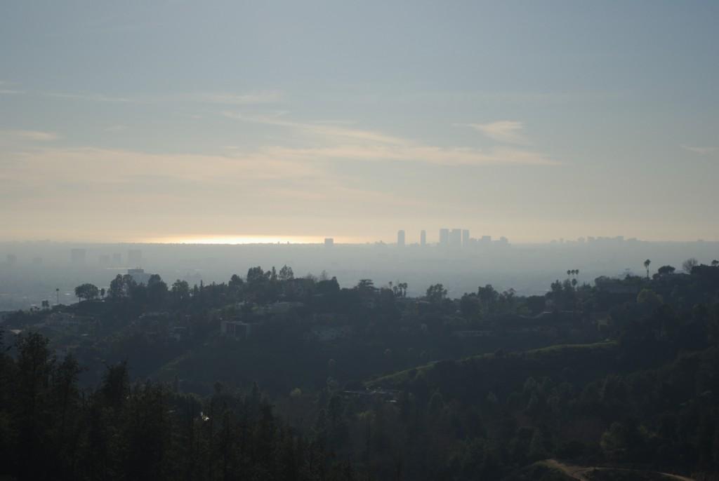 Panorama sur Los Angeles et le pacifique depuis Griffith Obersvatory