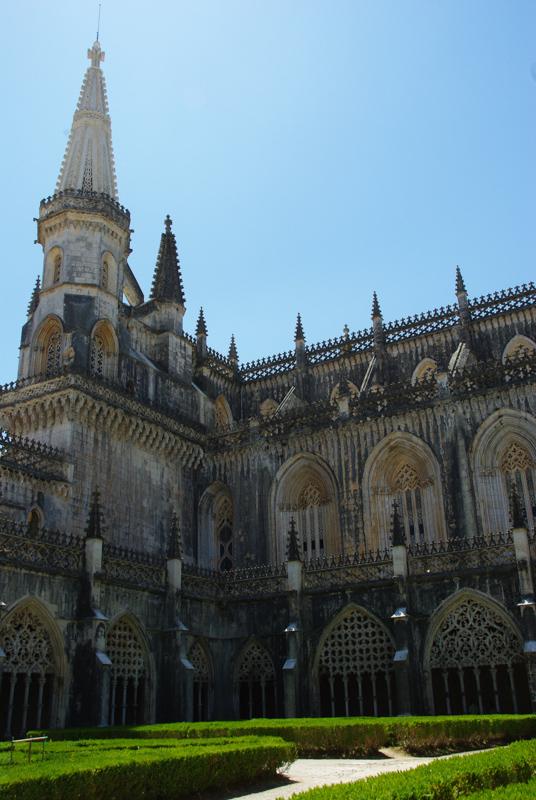 Monastère de Batalha vu du cloître royal