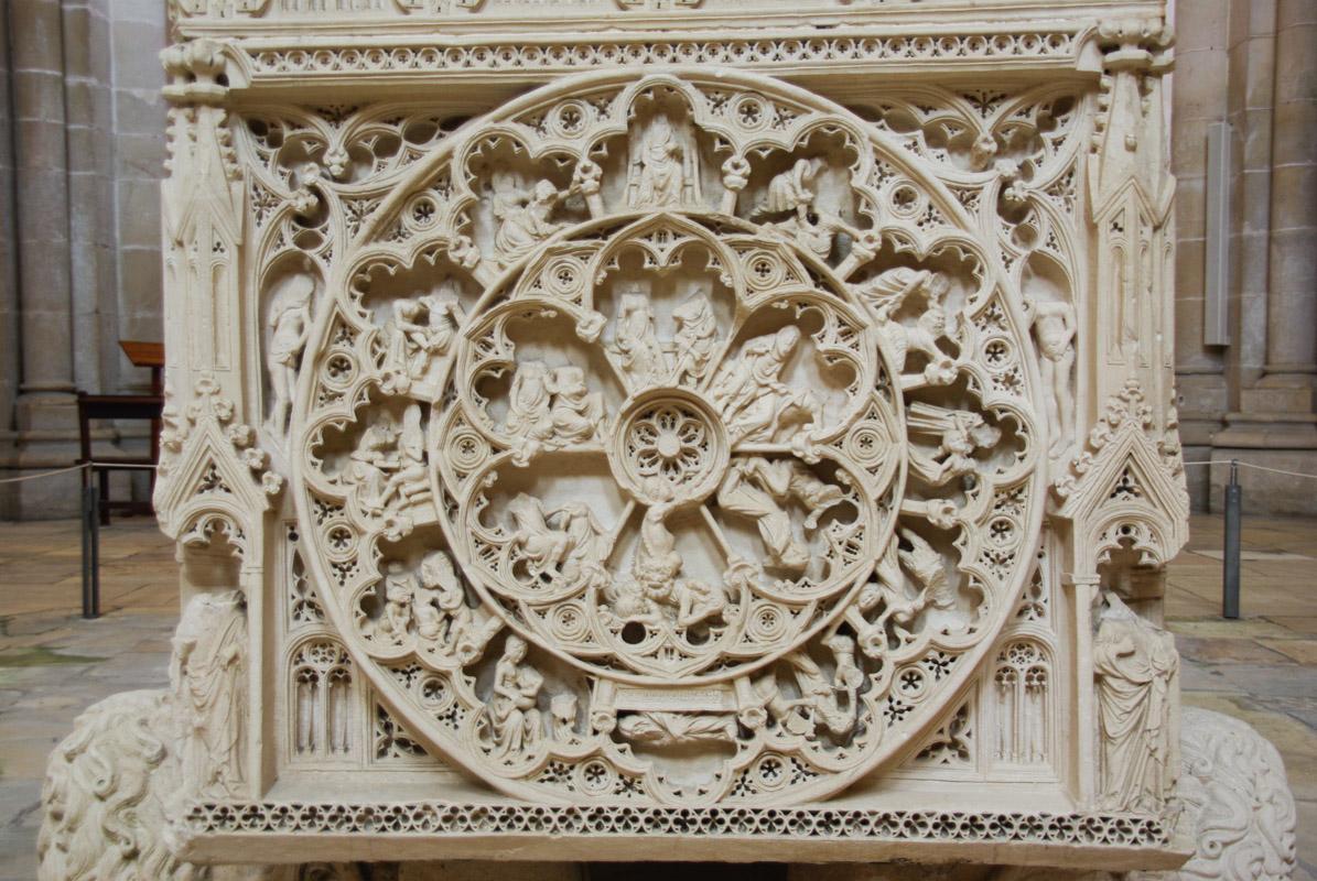Détail tombeau de Pierre Ier : la roue de la fortune