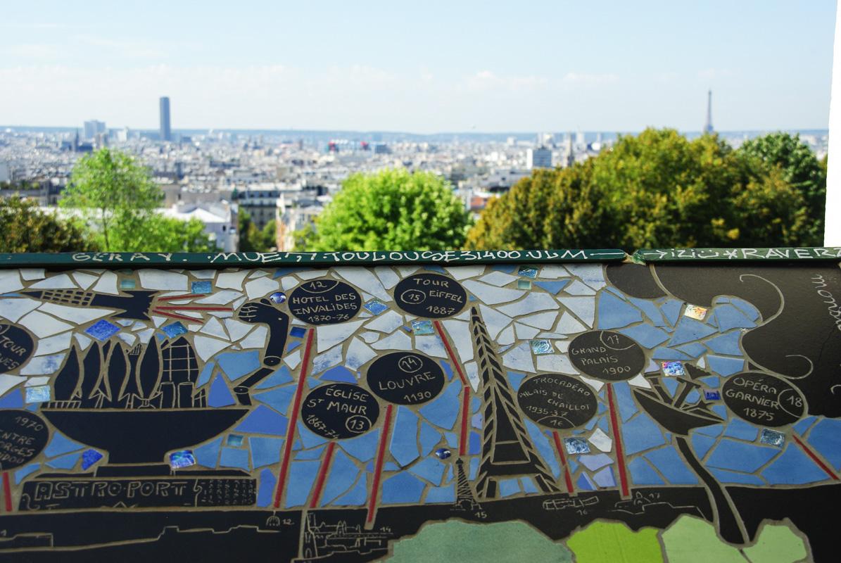 Panorama sur Paris depuis le Belvédère de Belleville
