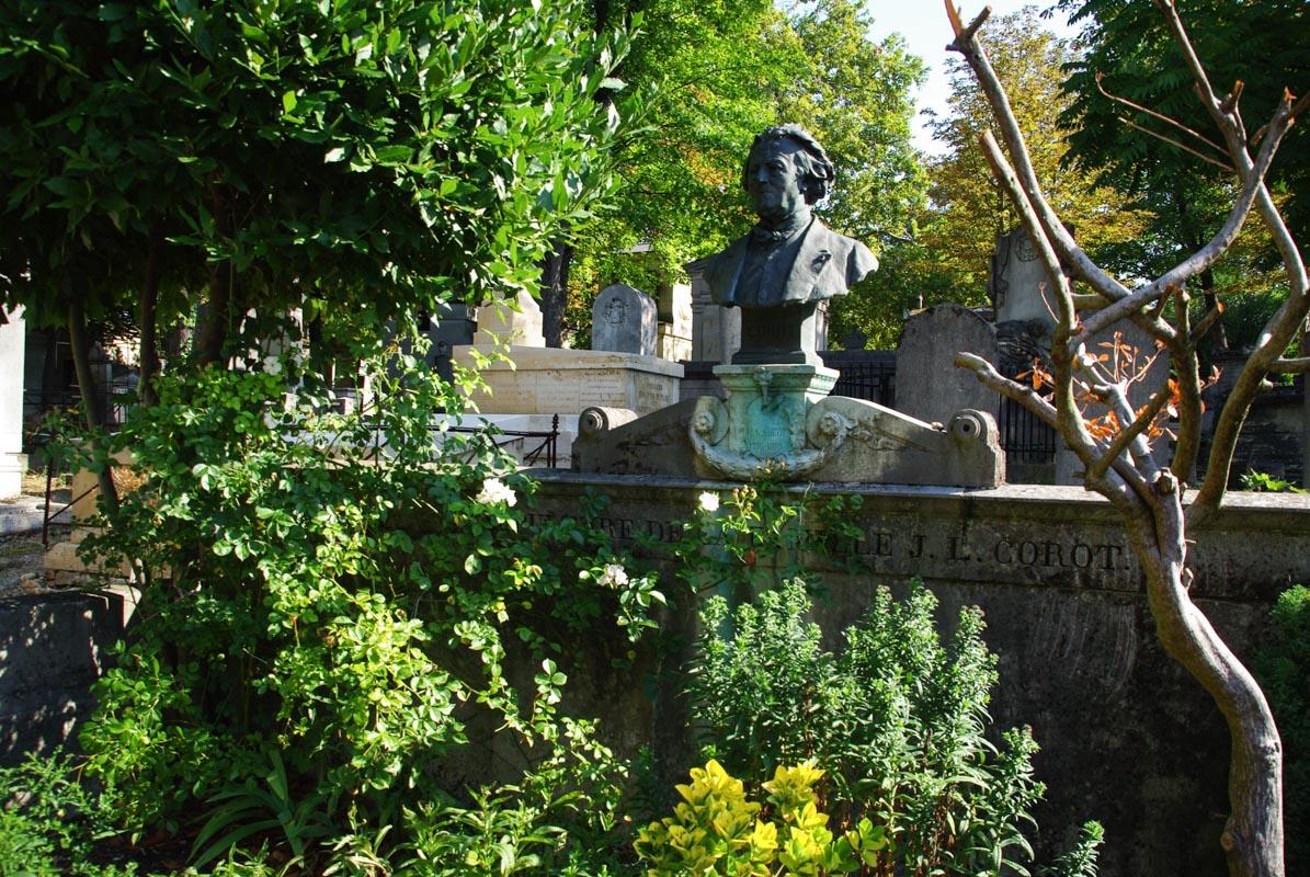 Tombe Corot - Père Lachaise - Paris