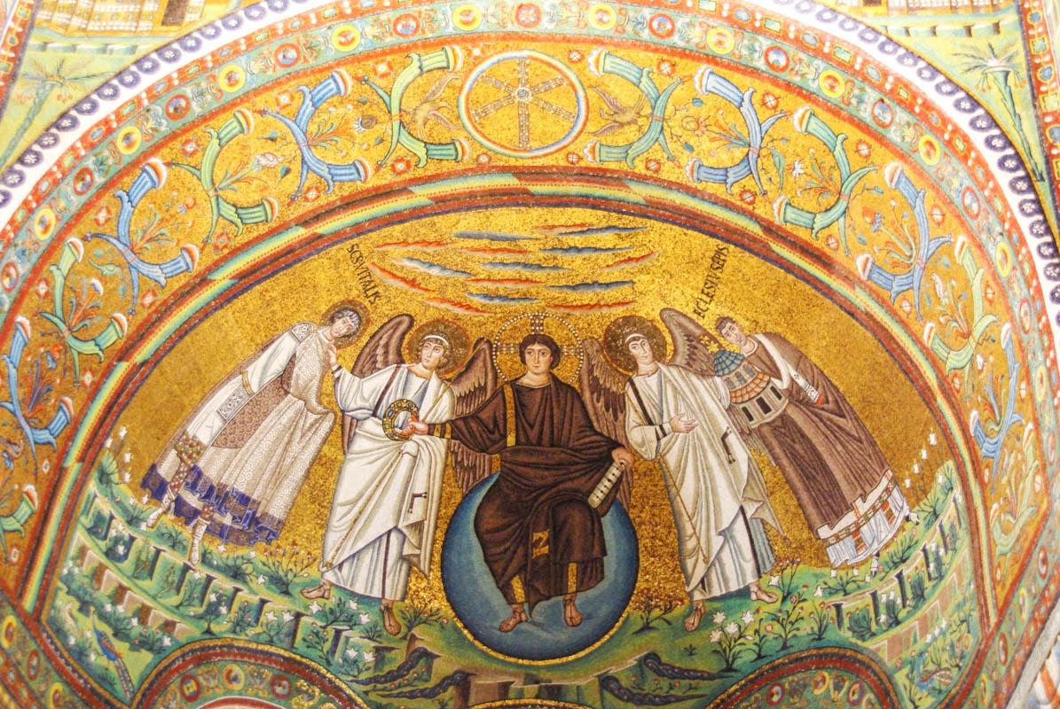 Mosaique abside de la basilique San Vital - Ravenne