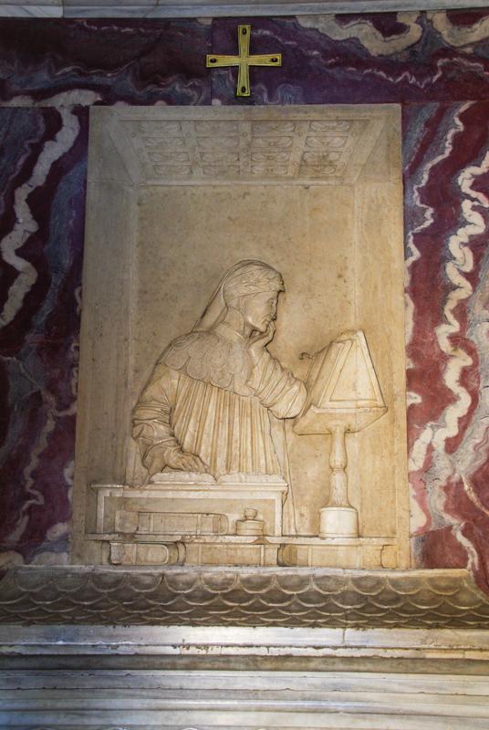 intérieur de la tombe de Dante - Ravenne