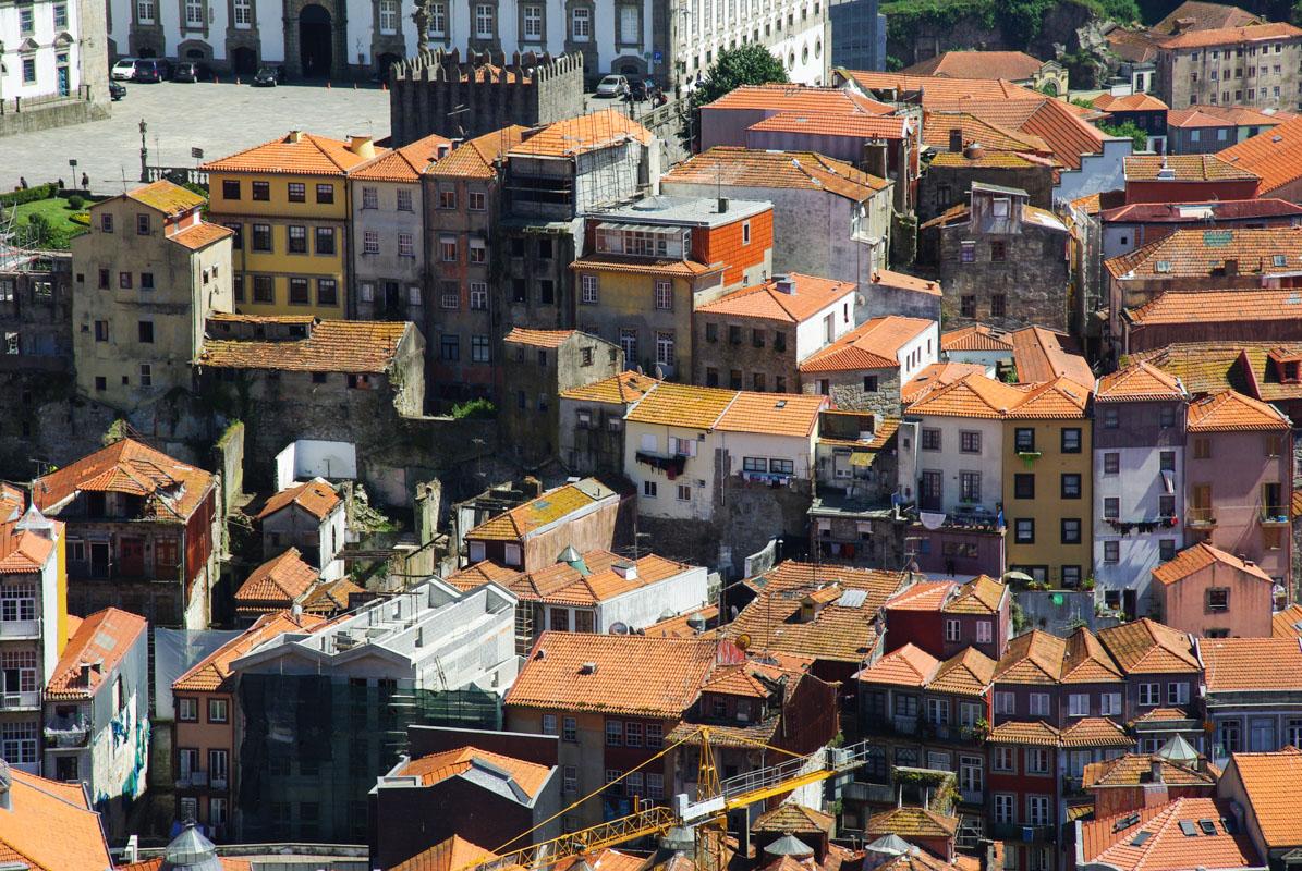 Quartier de la Riberia vue de la Tour du Clergé - Porto