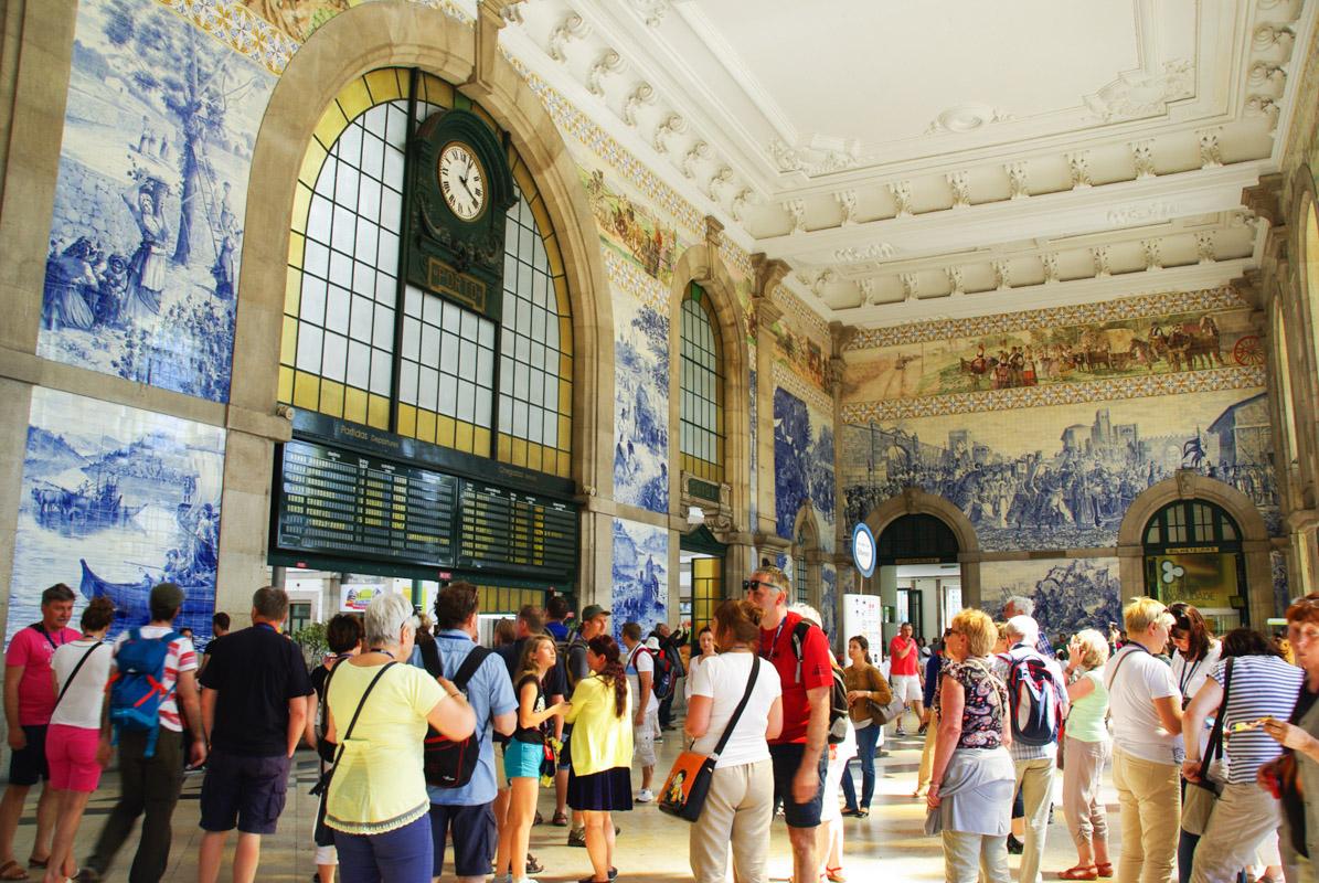 Hall de la gare de Sao Bento - Porto