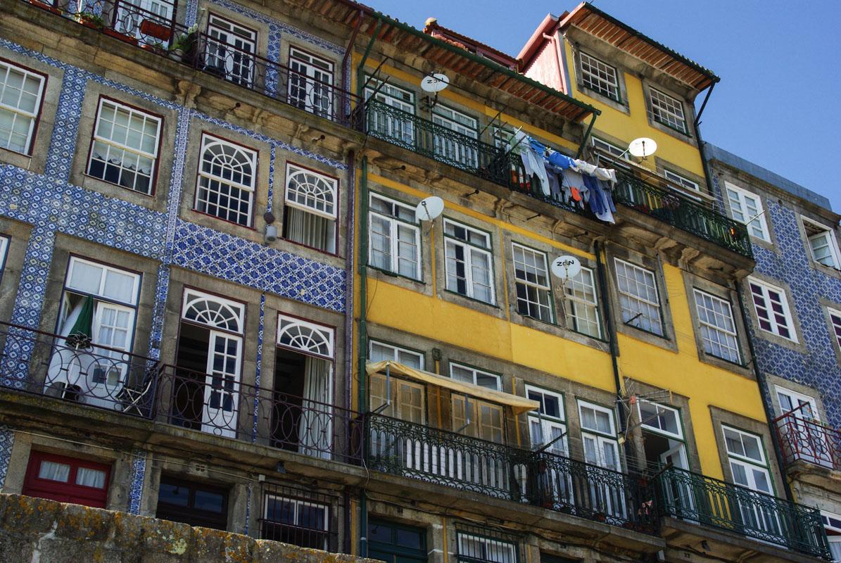 Façades du quartier de la Riberia - Porto