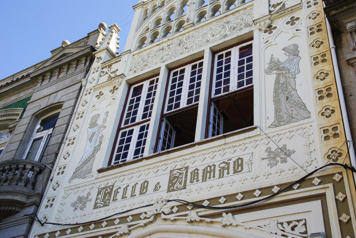 Façade de la librairie Lello et Irmao - Porto