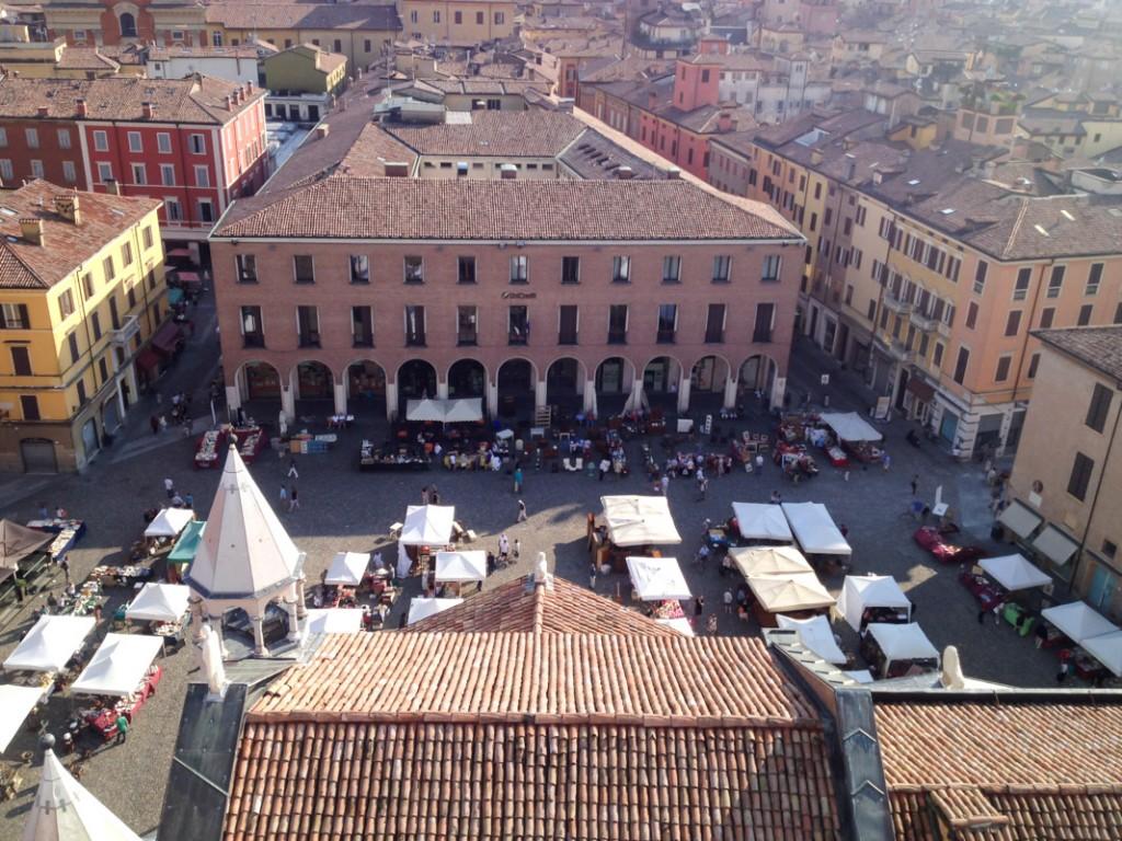 La Piazza Grande vue depuis la Torre Ghirlandina - Modène