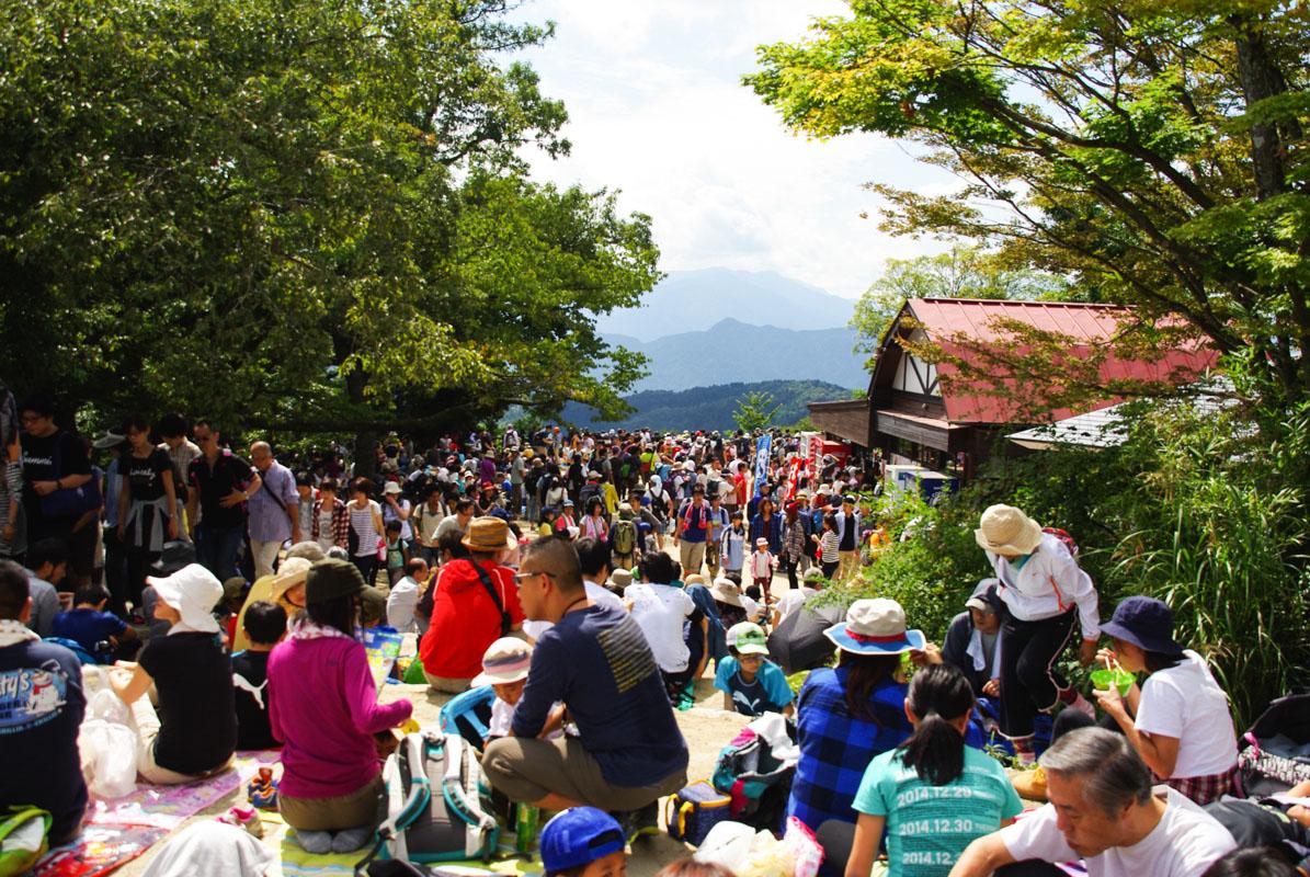La foule de japonais à Takao San